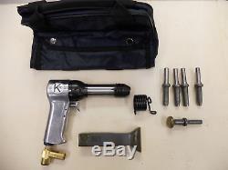 Rivet Gun Kit with 3x rivet Gun Bucking Bar Rivet Sets and Tool Pouch BRAND NEW