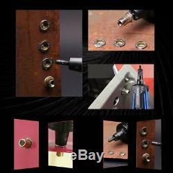 Rivet Gun Rivet Nut Tool Kit Hand Riveter Nutsert Setter SAE & Metric Mandrels