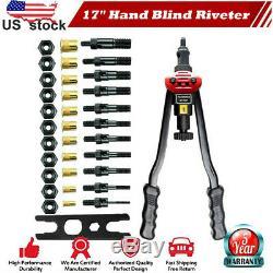 Rivet Nut Gun Kit Rivnut Setting Tools Nut Setter Tool Hand Blind Riveter 17inch
