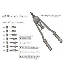 Rivet Nut Gun Kit Rivnut Setting Tools Nut Setter Tool Hand Blind Riveter US
