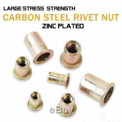 Rivet Nut Kit Mixed Rivnut Insert Nutsert Assortment Rivet Gun Tool Setter Nuts