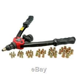 Rivet Nut Setter Kit Rivet Gun Tool Hand Riveter Rivnut Setting NutSert Riveting