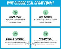 Seal Spray Closed Cell Insulating Foam Can Kit withGun Applicator&Cleaner (300 BF)