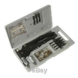 Sealey Heavy Duty Blind Nut/Stud Pop Rivet/Riveting Gun Kit/Set AK396
