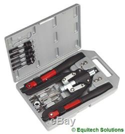 Sealey Tools AK39602 Rivet & Threaded Nut Blind Riveting Gun Kit M4 M5 M6 M8 M10