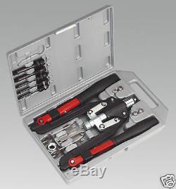 Sealey Tools Riverter & Threaded Nut Riveter Blind Riveting Gun Kit
