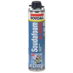 Soudal Kit, 12-24 oz Cans All Season Window & Door Foam, PTFE Coated Foam Gun