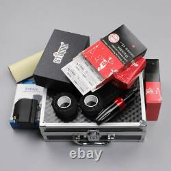 Stigma Wireless Tattoo Pen Kit Portable Machine Gun 40 Needles Battery RCA Set