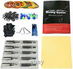 Tattoo Complete Starter Kit Machine Guns 14 Inks Foot Pedal Needles Grips Tips