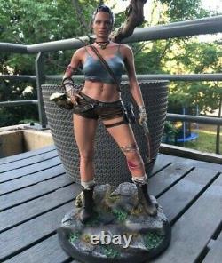 Tomb Raider Angelina Jolie Action Figure Unpainted Lara Croft Statue Model Kit