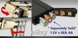 Toy AGF Airsoft Electric Gun BB FN Scar-L CQC Assault Rifle TAN Fold HopUp Gold