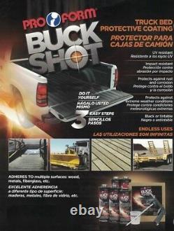 Truck Bed Liner Kit Black with Spray Gun 1.25 US Gal, 4.7Liter