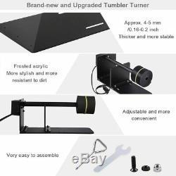 Tumbler Turner Machine Full Kits Epoxy Glitter Bubble Buster Tool Heat Gun DIY