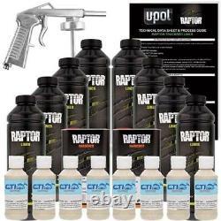 UPOL Raptor Shoreline Beige Urethane Spray-On Bed Liner Kit with Free Spray Gun 8L