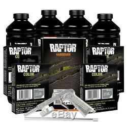 U-POL 821 + 4855 Light Gray 4L Raptor Spray On Truck Bed Liner Kit with Gun