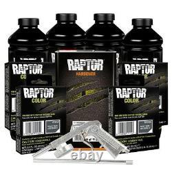 U-POL 821 + 4856 Basalt Gray 4L Spray On Raptor Truck Bed Liner Kit with Gun