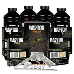 U-POL 821 + 4857 Beige 4L Raptor Spray-On Truck Bed Liner Kit with Gun