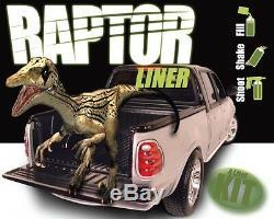 U-POL RAPTOR Black Truck Bed Liner Kit + 1 Spray Gun