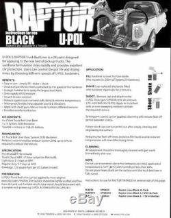 U-POL RAPTOR UP0820 Black Truck Bedliner Kit + Spray Gun and TEXTURE ADDITIVE