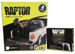 U-POL RAPTOR WHITE Truck Bed Liner Kit + 1 Spray Gun