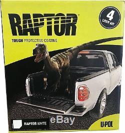 U-POL RAPTOR WHITE Truck Bed Liner Kit (Gun Not Included)