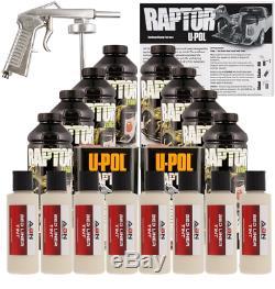 U-POL Raptor Beige Truck Bed Liner Kit with Spray Gun, 8 Liters Upol