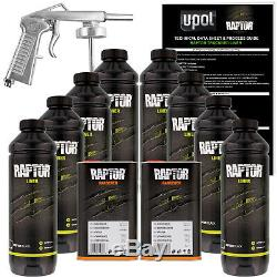 U-POL Raptor Black Urethane Spray-On Truck Bed Liner Spray Gun, 8 Liters