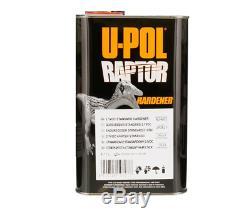 U-POL Raptor Tintable Black Metallic BedLiner Kit with SprayGun, 8L Upol