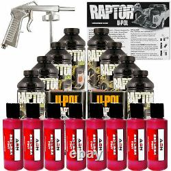 U-POL Raptor Tintable Blood Red BedLiner Kit with Spray Gun, 8 Liters Upol