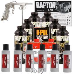 U-POL Raptor Tintable Bright Silver Bed Liner Kit with Spray Gun, 6L Upol