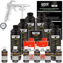 U-POL Raptor Tintable Charcoal Metallic Spray-On Truck Bed Liner Spray Gun, 6 L