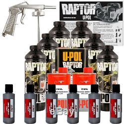 U-POL Raptor Tintable Pewter Metallic Bed Liner Kit with Spray Gun, 6 Liters Upol