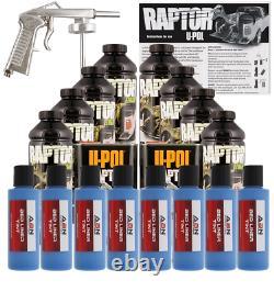 U-POL Raptor Tintable Reflex Blue Bed Liner Kit with Spray Gun, 8L Upol