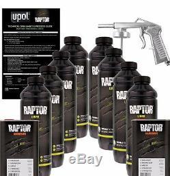 U-POL Raptor Tintable Urethane Spray-On Truck Bed Liner Kit withSpray Gun, 8 Liter