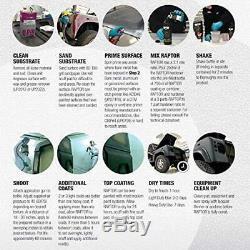 U-Pol Raptor Black Urethane Spray-On Truck Bed Liner Kit withFree Spray Gun, 4 Lit