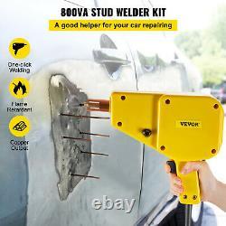VEVOR Auto Body Dent Repair Kit 800VA Electric Stud Welder Gun with Puller Hammer