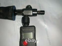 Walcom Carbonio Geo Clear Spray Gun with digital gauge, regulator, repair kit, etc