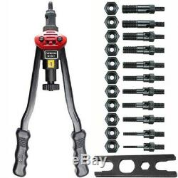 XL Rivet Nut Tool Kit Rivnut Setter Setting Gun Hand Riveter & Rivet Nuts Mixed