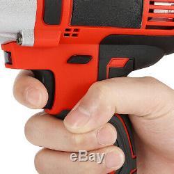 13800mah 400nm 1/2 ' ' Clé À Chocs Électrique Pistolet À Couple Élevé Drill Kit Lourd