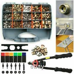 13'' Rivet Gun Kit Rivnut Thread Réglage Outil Nut Setter Nutsert Metric 900pcs