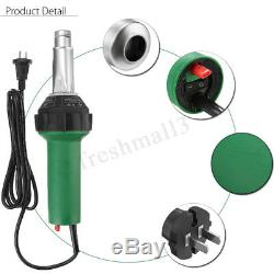 1600w 220v Air Chaud Torche De Soudage En Plastique Pistolet Soudeur Pistolet Tool Kit Withnozzle