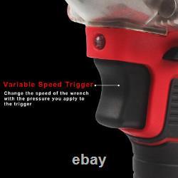 1/2 20v Brushless Impact Wrench Torque Rattle Gun Kit Batterie Électrique Sans Fil