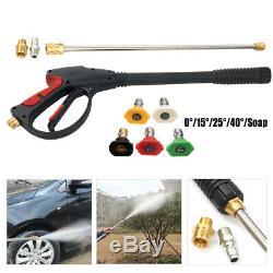 2100psi Nettoyeur Haute Pression Buse De Pulvérisation Pistolet Pistolet Kit Nettoyage De Voiture M22