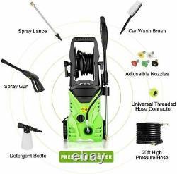 3000psi 1.8gpm Lave-pression Électrique Powerful Cold Water Cleaner Machine Kit