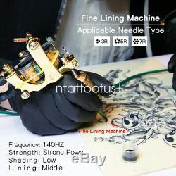 4 Kit Dragonhawk Tattoo Machine Couleur Pistolet Encre Alimentation Aiguille D'alimentation Grip Tip Ensemble N