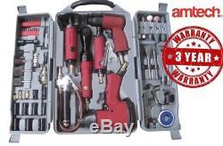 77pc Air Outil Kit Impact Pistolet Meuleuse Clé Marteau Ciseau Compresseur De Stockage De Matrices