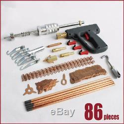 86pc / Set Soudeuse Gun Débosselage Marteau Machine De Soudure Voiture Dent Kit De Réparation