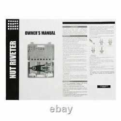 890 + 125pc Noix Rivet Gun Kit Rivnut Thread Réglage Outil Écrou Setter Nutsert Sae