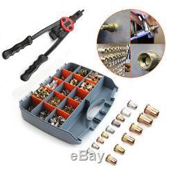 900pcs Riveteuse Gun Auto Riveter Écrous En Acier Inoxydable Insertion Outils Mandrin Kit