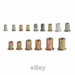 900pcs Riveteuse Gun En Acier Inoxydable Rivet Nuts Insert Tool Kit M3 M4 M5 M6 M8 M10